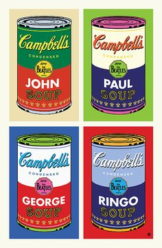 Beatles Soup Art Print by Gary Grayson. All prints are professionally printed, packaged, and shipped within 3 - 4 business days. Andy Warhol, Ringo Starr, Paul Mccartney, George Harrison, John Lennon, Beatles Art, Beatles Funny, Beatles Photos, Pub Vintage