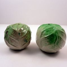 Vintage Cabbage Head Salt and Pepper Shakers by ExtraVintage on Etsy