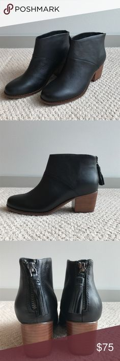 74521d700e9 Leather Booties. Leather BootiesWomens TomsBootie BootsAnkle ...