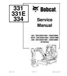 Pin on Bobcat Service Repair Manual Pdf Download