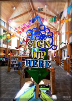 Trying a new self sign up table for Summer Reading 2014 at the library. We'll see how this goes.