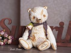 Made to order  Leonardo the Bear  9 inches Vintage Retro