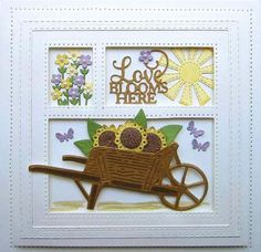 Creative Expressions - Sue Wilson dies and stamps - November 2017 Wooden Crafts, Paper Crafts, Easter Bunny Eggs, Garden Cart, Frantic Stamper, Spellbinders Cards, Sue Wilson, Variety Of Fruits, Little Flowers