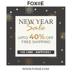 "🎉New Year Sale! ❄ 🎁🔔Check out our Stylish & Trendy collection and more. Use code ""HAPPY2021"" to get discount up to 40% off on EVERYTHING! Shop now 👇What's App +91 9358897802 #newyearseve #newyear #newyear2021 #happynewyear #party #instagood #celebration #sale #discount #newyearsale #jewellery #foxiie #foxiietrends Fashion Jewellery Online Shopping, Jewellery Sale, Trendy Collection, Jewelry Collection, India Usa, Oxidised Jewellery, New Years Sales, Imitation Jewelry, Stylish Jewelry"