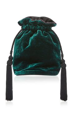 Make Hobo Bag Velvet Tula Bag by HUNTING SEASON Now Available on Moda Operandi - This Hunting Season bag is rendered in velvet and features a cross body strap and an adjustable closure with tassel details. Hunting Season Bags, Handmade Bags, Hobo Bag, Bucket Bag, Pin Up, Fashion Accessories, Crossbody Bag, Pouch, Velvet