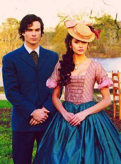 Katherine Pierce & Damon Salvatore, 1864