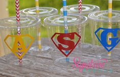 Super Hero Birthday Party Supplies-Birthday by PartyCupMedley