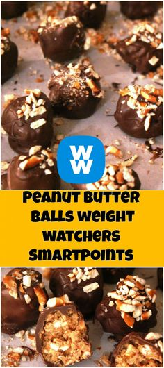 Peanut Butter Balls weight watchers SmartPoints : 2 | weight watchers recipes