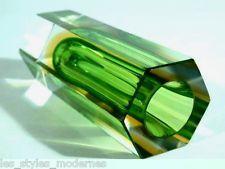 MANDRUZZATO hexagon Blockvase with label ° 3x sommerso ° Murano art glass
