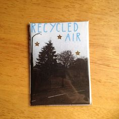 My autobiographical mini zine about breathing in on Sunday night is back! This time around I shook up the cover -- the writing is now blue and I