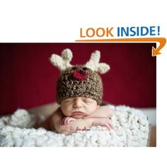 Crochet This Baby Reindeer Hat