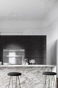 | KITCHEN | LOVE this Parisian apartment by Pearl Pearl Pearl Liu Vedel .