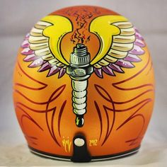 Flat Copper Custom Biltwell Novelty Helmet Now In Stock | Crown Helmets