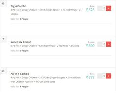 KFC Offers Chandigarh: Complete List of KFC Store Offer, Coupons, Deals,Chandigarh