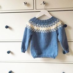 Ravelry: Winter buds sweater / Snøløvgenser pattern by Marianne J. Knitting For Kids, Easy Knitting, Knitting For Beginners, Baby Sweaters, Girls Sweaters, Knitting Sweaters, Fair Isle Knitting Patterns, Ravelry, Fair Isles