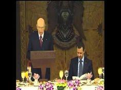 Giorgio Napolitano in Siria nel 2010 - YouTube