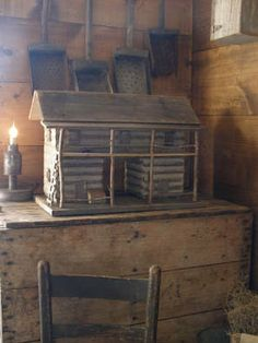 Sweet Liberty Homestead 2 story dogtrot log cabin and primitive lighting...ReaLLy Like the Scoops OR SHoveLs