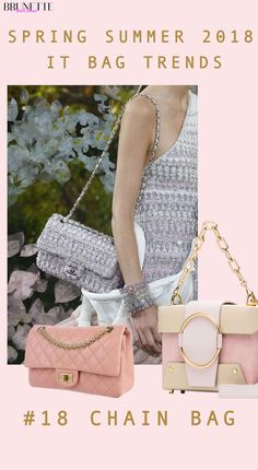 Chanel bag with text overlay #18 CHAIN BAG Spring Summer 2018 IT bag trends