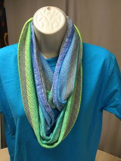 pastel striped infinity scarf by NanasSweeties51 on Etsy