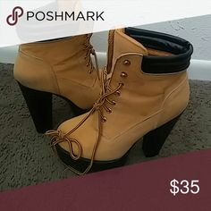 Cute Boots ?? Cute Timberland Style Boots Shoes Heeled Boots