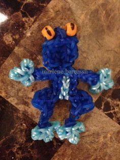 Blue Frog Rainbow Loom (marlene.barressii)