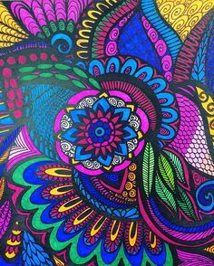 ColorIt Calming Doodles Volume 1 Colorist: @ashgirl_27 (from instagram) #adultcoloring #coloringforadults #adultcoloringpages #doodle