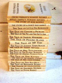 Peter Rabbit, Beatrix Potter books, Vintage children's books, Complete set of 23!