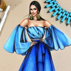 Stunning Haute Couture Illustrations by Zoljargal Enkhbold - Be Modish - Fashion design sketches - Dress Design Sketches, Fashion Design Sketchbook, Fashion Design Drawings, Fashion Sketches, Fashion Drawing Dresses, Fashion Illustration Dresses, Dress Illustration, Drawing Fashion, Fashion Figures