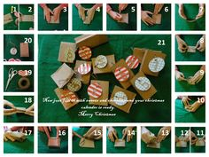 An easy,quick and beautiful way to make a christmas calender for your family and friends!