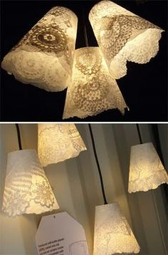 mimo e bambino: Luminárias feitas com Garrafas Pet.