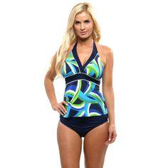 Miraclesuit Women's Blue Navy 2 Pc Set Curves Tankini Set Size 10 #Miraclesuit #Tankini