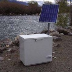 Move to solar incrementally. Start with one solar panel, one battery, and one super efficient DC refrigerator. You can purchase an DC to AC inverter later as you add more panels for other electrical needs. Homestead Survival, Camping Survival, Survival Prepping, Emergency Preparedness, Survival Skills, Solar Camping, Camping Hacks, Solar Energy System, Solar Power