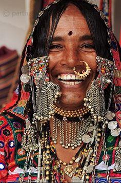 India - Lambadi woman. What an amazing sincere & beautiful smile