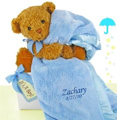 Your first best friend the teaddy bear personalized gift bears baby boy luxurious blanket bear set negle Images
