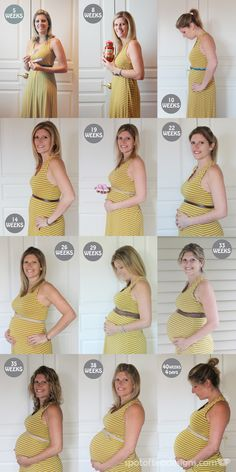Documenting your #pregnancy with weekly photos in the same dress #maternity | spotofteadesigns.com