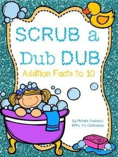 Addition Facts to 10 Unit with 40 pages of work, center games and an assessment. Students will work with a variety of addition strategies to build fluency with addition facts to 10.