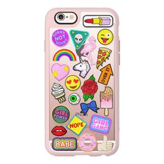 iPhone 6 Plus/6/5/5s/5c Case - Patch Collection ($40) ❤ liked on Polyvore featuring accessories, tech accessories, iphone case, iphone cover case, iphone hard case and apple iphone cases
