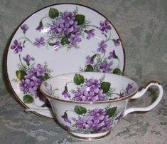 Wild Violets Sheltonian Bone China from England