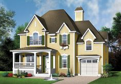 Country Style House Plans - 1795 Square Foot Home , 2 Story, 3 Bedroom and 2 Bath, 1 Garage Stalls by Monster House Plans - Plan 5-635