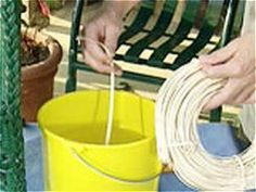 DIYNetwork.com demonstrates how to repair wicker furniture with materials available at most craft shops.