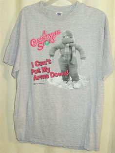 "FREE U.S. Shipping! A Christmas Story ""I Can't Put My Arms Down"" Shirt! Large.   #DeltaProWeight #GraphicTee"