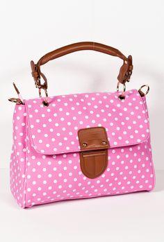 Polka Dot Fling Handbag in Happy Pink  $27.99