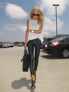 Getting ideas on how to style my new leather pants...