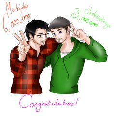 Congratz Markiplier and Jacksepticeye! by Pink-chi on DeviantArt
