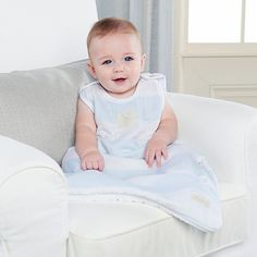 Baby Aspen Sweet Snuggles Muslin Wearable Blanket (Blue) - NuMercy.com