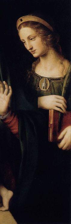 Bernardino LUINI -Madonna and Child with Sts Catherine and Barbara 1522-25