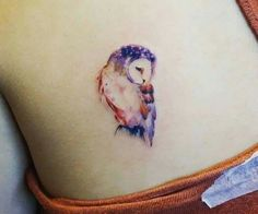Owl water color tattoo
