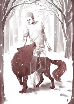 ninakask: AU: Stiles died and the only way Derek can see him is when he is in his full wolf form, but he also can't talk to him this way. Teen Wolf Fan Art, Teen Wolf Ships, Teen Wolf Dylan, Wolves Fighting, Sterek Fanart, Bad Wolf, Life Is Strange, Derek Hale, Stiles