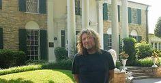 """Robert Plant ('Percy'') '@ Graceland in Memphis….. Big Elvis Fan!!!!! """""""""""