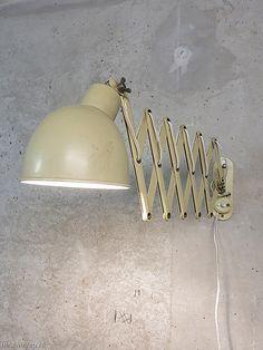 Industriële vintage schaarlamp fabriekslamp muurlamp industrieel, scissor lamp industrial
